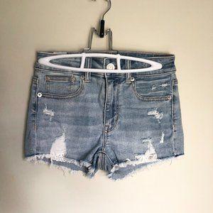 American Eagle Jean/Denim Ripped Short Shorts